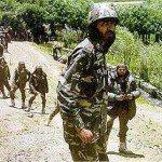 Major Padmapani Acharya with his troops