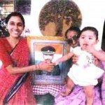 Major Padmapani Acharya's wife and daughter