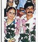 Lt Col Vishwanathan on his wedding day