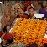 Family members at the Funeral of Gursewak Singh
