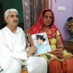 Flt Lt Deepika's parents Dalip Singh Sheoran and Prem Lata