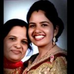 Flt Lt Deepika Sheoran with her mother Prem Lata