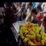 Family pays last respects to Naik B V Ramana