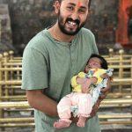 Major Shikhar Thapa with his son