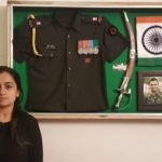 Major Praful Moharkar's wife with his memorabilia