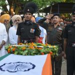 Army Officials pay their respects to Sepoy Jaspeet Singh