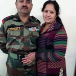 Hony Lt Madan Lal Choudhary with his wife