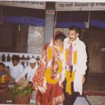 Major Navneet Vats with his wife