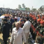 Last rites of Lance Naik Sunil Kumar