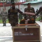 Last rites being performed for Sapper Sada Gunakar Rao