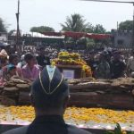 The last rites of Naik Thorat Kiran at his village
