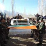 Final Military Honours paid to Havaldar Tsewang Noroboo