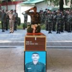 Final Military Honours to Sepoy Vikram Singh