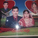 Naik Girijesh Kumar and his wife