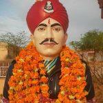 Sep Arjun Ram Baswana's statue in Nagaur