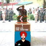 Indian army paying tribute to Lance Naik Sandeep Singh