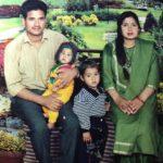Naik Mangat Singh with his family