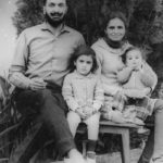 Major SPS Waraich with his Wife and daughters wife and daughters Simmi and Neetu