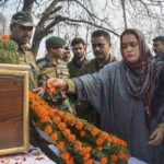 People pay their last respects to Lance Naik Nazir Ahmad Wani