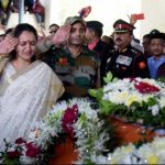 Major Prasad Mahadik's wife Gauri pays her last respects to her husband