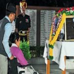 Major Shashidharan Nair's wife Trupti paying respects to her husband