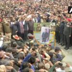 Last respects being accorded to Major Chitresh Singh Bisht