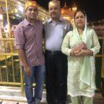 Major Chitresh Singh Bisht with his parents