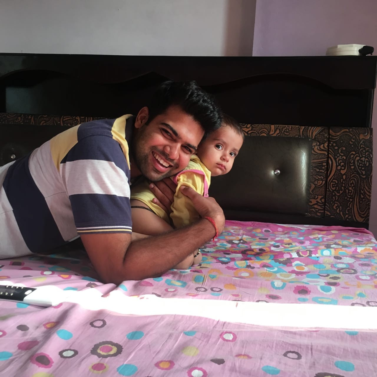 Cpl Pankaj Kumar with his son Rudransh