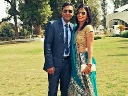 Major Ketan Sharma with his wife
