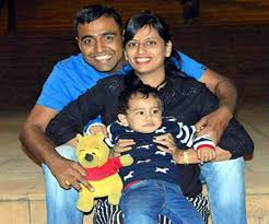 Major Ketan Sharma with his family