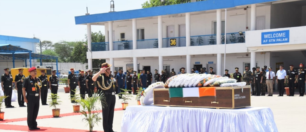 Last salute to Major Ketan Sharma
