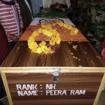 The mortal remains of Nk Peera Ram