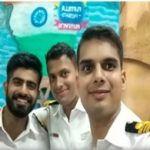 Lt Cdr D S Chauhan with his comrades