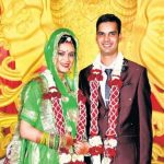 Lt Cdr D S Chauhan with his wife Karuna