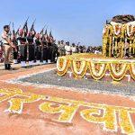 Indian army paying tribute to Hav Jyotiba Ganapati