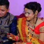 Sepoy Rahul Rainswal with his wife