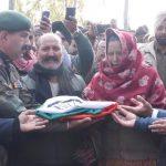 Gnr Ranjit Singh's parents receiving his belongings