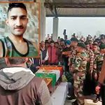 Army personnel paying their last tributes to Sep Karnail Singh