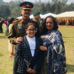 Col Ashutosh Sharma with his wife & daughter