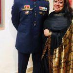 Col Ashutosh Sharma with his wife