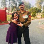 Col Ashutosh Sharma with his daughter