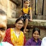 Nb Sub Nandu Ram Soren with his wife Smt Laxmi and three daughters Gyaneshwari, Manasi and Sonali