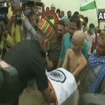 Hav Sunil Kumar's son receiving his father's belongings