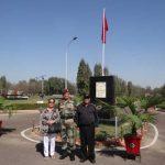 Maj AK Kanal's elder brother & wife at the Nagi war memorial