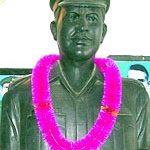 The bust of Major Narain Singh, at War Memorial in Fazilka