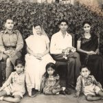 2nd Lt IK Gupta as a young boy with his parents and other family members
