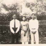 2nd Lt IK Gupta with his sister in younger days