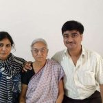 Smt Suman Purohit with son Shri Vipul Purohit and daughter-in-law