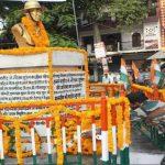 His memorial at Kudaghat in Gorakhpur