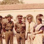 Maj Abhijit Kumar Das as a young officer